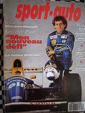 revue SPORT AUTO 1992 OPEL VECTRA 4X4 TURBO /PEUGEOT 405 TURBO 16 /MAZDA 323 GTR