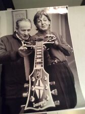 Paul McCartney Gibson guitar Les Paul poster printed on photographic paper stock