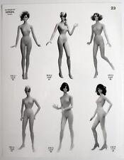 PHOTO MANNEQUIN FEMME SIÉGEL NOVITA Surréalisme Surréaliste Pub 1960 Corps Nu
