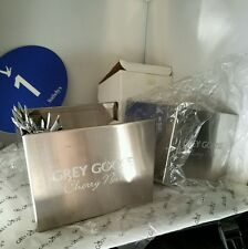 6 Grey Goose Collection branded Steel Cherry Noir Napkin Stirrers Steel holders