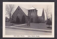 1915 Real Photo RPPC Postcard Saint Andrew's Presbyterian Church SUTTON Ontario