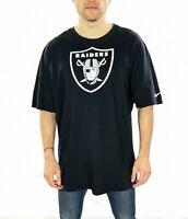 Men's Nike Raiders Big Logo T-Shirt In Black Size 3XL