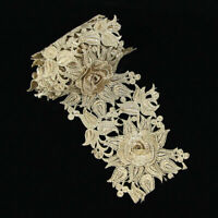 1 Yard 3D Flower Embroidered Lace Edge Trim Ribbon Wedding Dress Sewing Craft