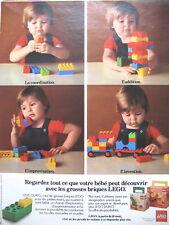 PUBLICITE DE PRESSE LEGO JOUET POUR BéBé FRENCH AD 1970