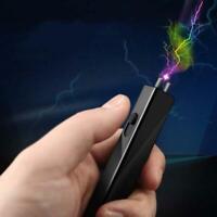 Rechargeable Electric Shocker Lighter Mini Self Defense Key Chain Prank USB New