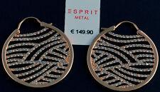 ESPRIT Damen Ohrringe Creolen Zirkonia Ohrhänger rosègold NEU UVP* 149,90 €