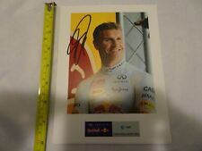 David Coulthard 2013 Red Bull Racing Formula 1 Team Driver Authentic Autograph