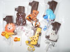 24 funfari Safari Animal 1st First Birthday Chocolate Lollipops Birthday Favors