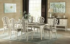 Acme Furniture Kaley 7 Piece Antique White Dining Room Set Furniture