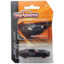 "Mercedes Benz AMG GT Matte Black Majorette Racing 232E 1:64 3"" inch Toy Car 2019"