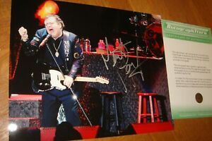 """MEATLOAF excellent hand-signed 10x8"""" colour with COA"""