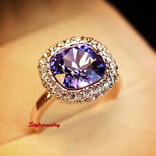 Rose Gold Plated Amethyst Fashion Jewellery