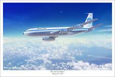 "Pan Am Jet Clipper 707 Aviation Art Print 16"" x 24"""