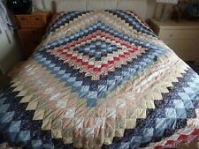 """LARGE COTTON PATCHWORK QUILT COVER BEDSPREAD THROW 100"""" X 95"""""""