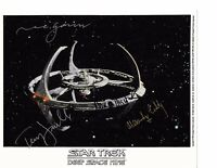 Star Trek DS9 Dual Signed Autographed Station Photo 4 Signatures Rare In Person