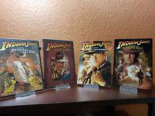 Indiana Jones 4 Films Raiders of the Lost Ark Temple of Doom Last Crusade Mint!
