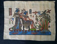 "Egyptian Papyrus Original Hand Painted Made in Egypt 13'' X 17"" River Nile"