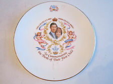 CHARLES & DIANA COMMEMORATIVE PLATE - THE BIRTH OF THEIR FIRST CHILD - 8 1/2""