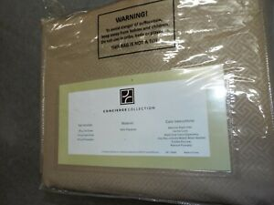 Concierge Collection Beige 100% Polyester King bed sheets Bedding Bedroom