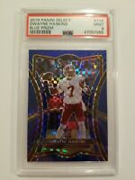 2019 Panini Select  Dwayne Haskins Blue Prizm /149 PSA 9 Checkerboard RC #114