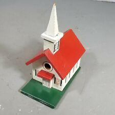 Vintage Wood Church Birdhouse Wooden Wedding Decor