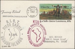 B.I.OT.1982. Post Card Navy cachets, Chagos Island, FPO 96685,