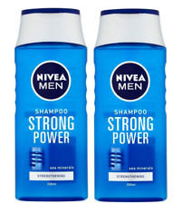 2-pack NIVEA Men STRONG POWER Strengthening Shampoo 250 ml with Sea Minerals