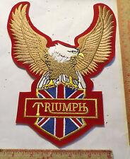 XLg Vintage Triumph patch old British motorcycle collectible biker memorabilia