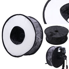 45cm Foldable Circular Macro Ring Round Softbox Diffuser for Speedlite Flash HU