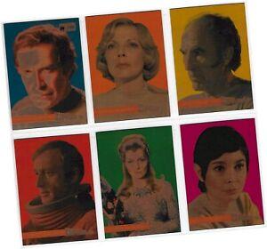 "Space 1999 Series 2 - 6 Card ""Metallik Foil"" Promo/Preview Set PV1-PV6 #69/150"