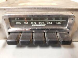 Peugeot AM FM Radio 1970's 304 504 Original Vintage in Dash 15C42402 15C42403