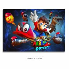 SUPER MARIO Bros ODYSSEY Poster 7.5x11 W/FoamBoard Back & Laminated
