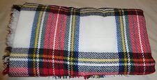 Wrap/Shawl-Plaids & Checks-Red, White, Black, Green, Blue, Yellow-Acrylic