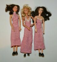 Charlies Angels 3 Doll Set 1976 Time Magazine Dresses Farrah Fawcett Jaclyn Kate