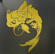 Koi fish sticker Japanese Chinese Funny JDM gold race car window decal