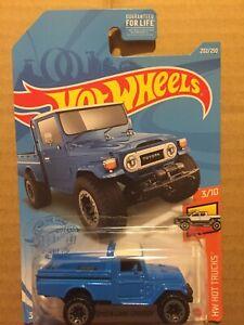 2021 Hot Wheels L Case  #202 Blue Toyota Land Cruiser HW Hot trucks