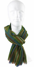 Schal Sommerschal Webschal Streifen grün modisch 100% Wolle (Merino) R-633