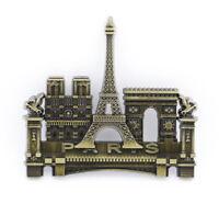 "3D Metal Fridge Magnet ""Landmark Buildings Paris France"" Beautiful Design New"