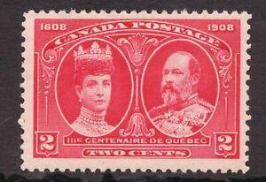 Sc #98 - Canada - 1908 - 2c - Tercentennial - MH - superfleas -