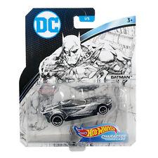 Hot Wheels DC Character Cars Sketched Series Batman Die Cast