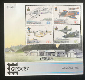 Royal New Zealand Air Force Exhibition Miniature Sheet-CAPEX 1987
