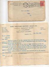 Thayer-Hovey Soap Company, Takanap Soaps, DARBY PA Pennsylvania Billhead Cover