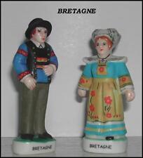 DEUX STATUETTES LE COUPLE BRETAGNE Porcelaine  7cm