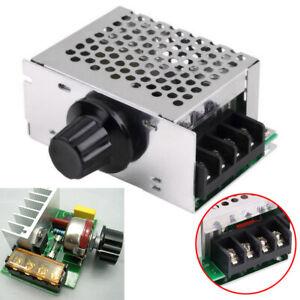4000W 220V AC SCR Drehzahlregler Motor Spannungsregler DimmerModul 89x59x38mm DE
