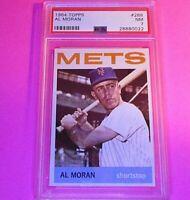 1964 Topps #288 Al Moran Mets  PSA 7 NM NrMt