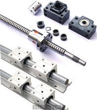 4pcs SBR16 L500mm L800mm+2pcs Ball Screws RM1605 L500mm L800mm+8 SBR16UU+BK/BF12