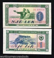 ALBANIA 1 LEK P40 1976 BUNDLE MOUNTAIN UNC ORIGINAL CURRENCY PACK 50 BANK NOTES