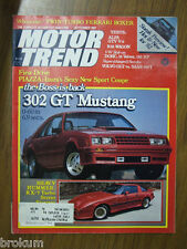 MOTOR TREND SEPTEMBER 1981 302 GT MUSTANG, RX-7 TURBO