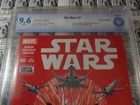 """Star Wars (2015) Marvel - #1, CBCS 9.6 (NM+), 3rd Print """"Red"""" Variant CVR"""