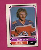 RARE 1975-76 OPC WHA # 37 OILERS KEN BAIRD ROOKIE EX-MT CARD  (INV# A261)